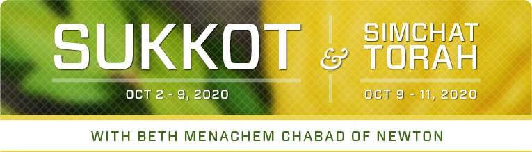 Sukkot with Beth Menachem Chabad of Newton